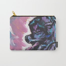 Fun black Pomeranian Dog bright colorful Pop Art Carry-All Pouch