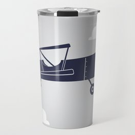 Biplane Navy/Gray Travel Mug