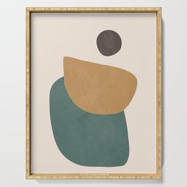 Abstract Minimal Shapes III Serving Tray