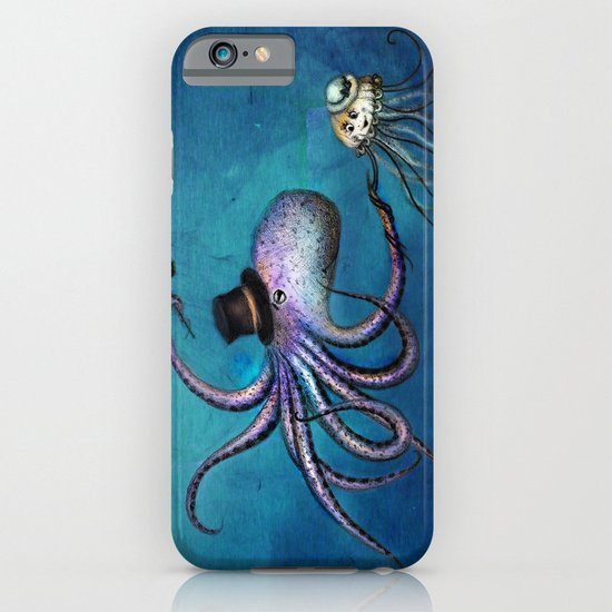 Underwater Love // octopus jellyfish iPhone & iPod Case