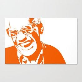Ray Charles – Orange Canvas Print