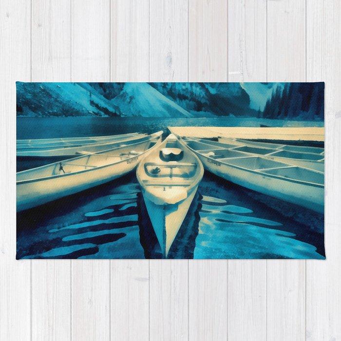 Canoes Rug