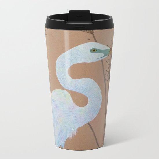 Unicorn Egret Metal Travel Mug