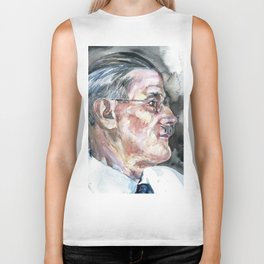JAMES JOYCE - watercolor portrait Biker Tank