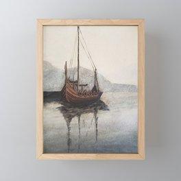 Lonely Viking Framed Mini Art Print
