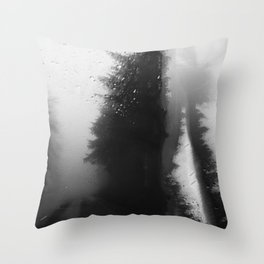 What Lies Down Hidden Rain Drenched Paths Throw Pillow