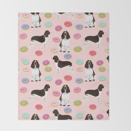 English Springer Spaniel donuts funny dog gifts perfect for spaniel owner pet portraits Throw Blanket