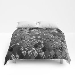 Mermaid Glitter Scales #7 (Faux Glitter) #shiny #decor #art #society6 Comforters
