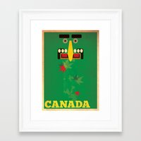 canada Framed Art Prints featuring Canada by Laura Greenan Design