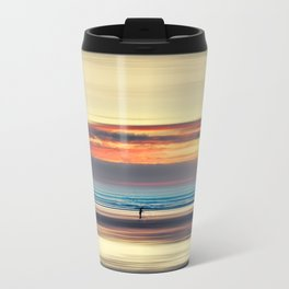 Along Memory Lines - Abstract Seascape Travel Mug