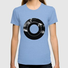 Zen Black and White Abstract Record T-shirt