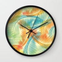 palms Wall Clocks featuring Palms by Guilherme Rosa // Velvia