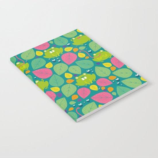 Frogs pattern Notebook