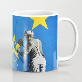 Banksy, Brexit, Euro, Breaking EU Stars, [edited, close up] Coffee Mug