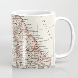 Universal Atlas of the World A cartographic map of the British Isles published in 1900 Coffee Mug