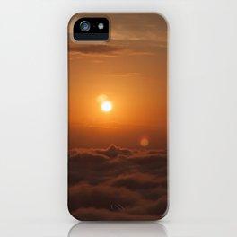 Three Sun SunSet iPhone Case