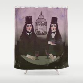 NO FRILL TWINS/MAGIC Shower Curtain