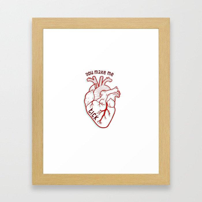you make me tick Framed Art Print