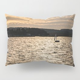 Sunset in San Francisco bay Pillow Sham