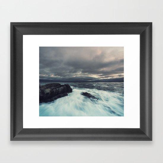 Washed Point Framed Art Print