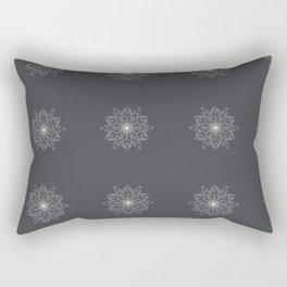 Geometric Asphalt Rectangular Pillow
