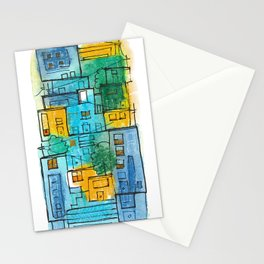 Blues Street Stationery Cards