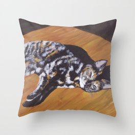 Contentment in a Patch of Sunlight (2015) Throw Pillow