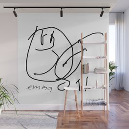 Hey Baby (signed) BW Wall Mural