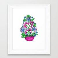 beth hoeckel Framed Art Prints featuring Beth by Phoebe Jayne