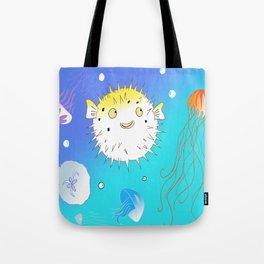 Little Fugu (Blue) Tote Bag