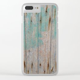 Old Wooden Wall Clear iPhone Case