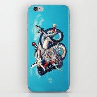 illuminati iPhone & iPod Skins featuring Heart of Illuminati by Eugenia Loli