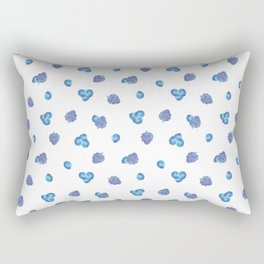 Watercolor Berries Toss Rectangular Pillow