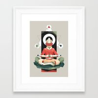 aang Framed Art Prints featuring Aang Meditating by JC Franco