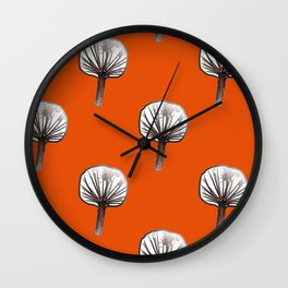 Little Trees (burnt orange) Wall Clock