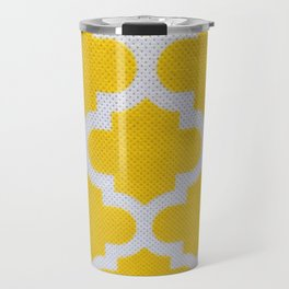 Yellow Cross Pattern Travel Mug