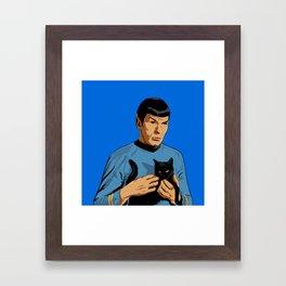 Spock's cat Framed Art Print
