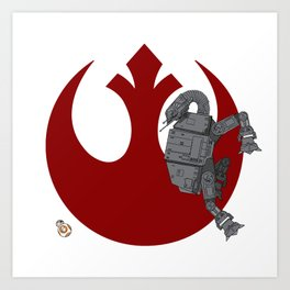 Droid Eek! (red) Art Print