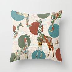 Giraffe Polka Throw Pillow