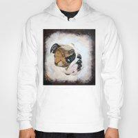 english bulldog Hoodies featuring English Bulldog by Kristiekoz