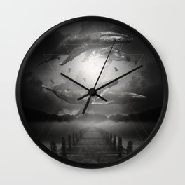 The Space Between Dreams & Reality II Wall Clock