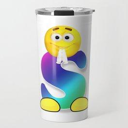 Letter S Alphabet Smiley Monogram Face Emoji Shirt for Men Women Kids Travel Mug