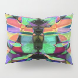 Drinkin Whiskey and Rye: Colorful Digital Abstract Design Pillow Sham