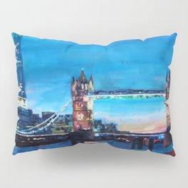 London Tower Bridge and The Shard at Dusk Pillow Sham