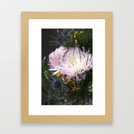 When the sunlight hits  |  Fresh Cut Flowers Framed Art Print