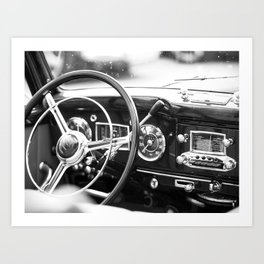Classic Car Interior Art Print