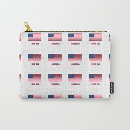 Flag of Usa – I love Usa 3 Carry-All Pouch