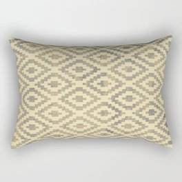 Geomteric pattern design, blicks sytle with a grunge background texture Rectangular Pillow