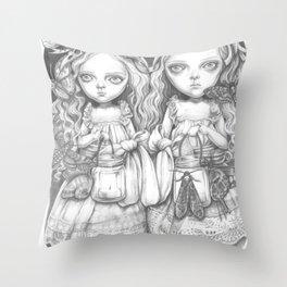 Freya and Faye, the moth collectors Throw Pillow