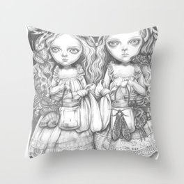 Freya and Faye, the moth collectors Throw Pillow